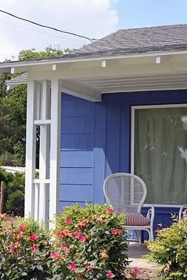 Blue house corner